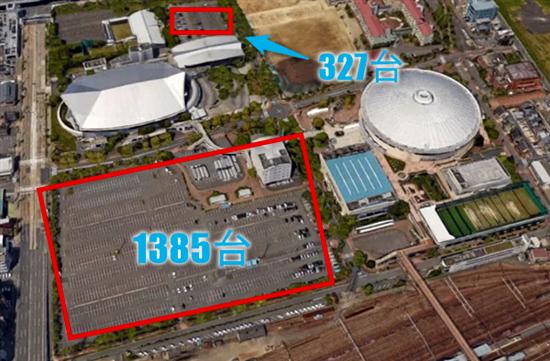 日本ガイシホールの駐車場、最寄りのコインパーキング
