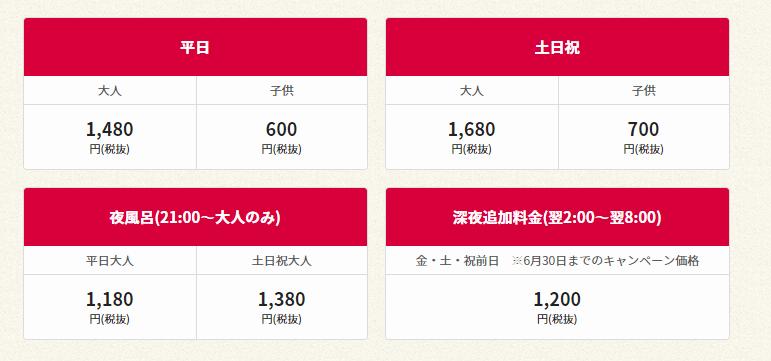 ラクスパガーデン名古屋の料金