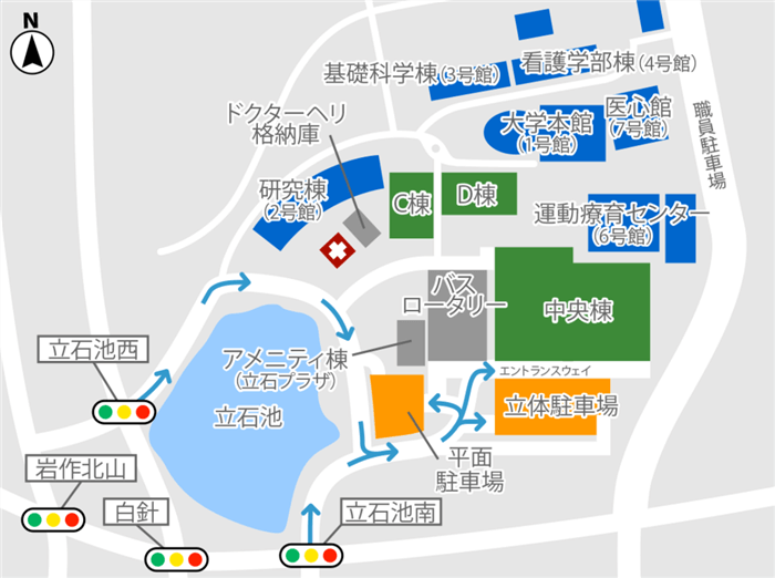 愛知医大のマップ