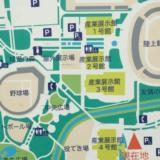 金沢産業会館の駐車場への地図