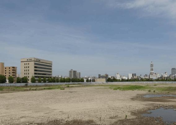 イオンモール則武新町の建設予定地の現在
