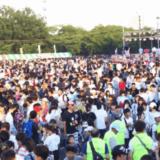 春日井花火大会会場の混雑