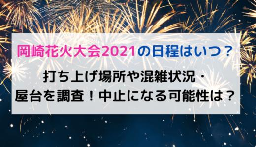 岡崎花火大会2021の日程はいつ?打ち上げ場所や混雑状況・屋台を調査!中止になる可能性は?
